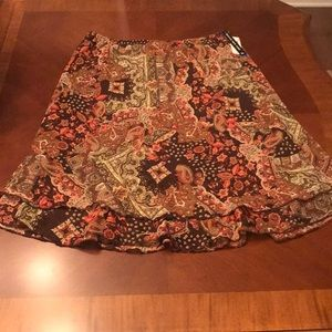 Briggs New York Print Skirt XL - Brand New